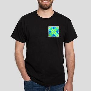 Squares & Angles Design Dark T-Shirt