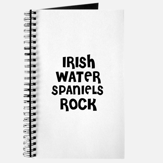 IRISH WATER SPANIELS ROCK Journal