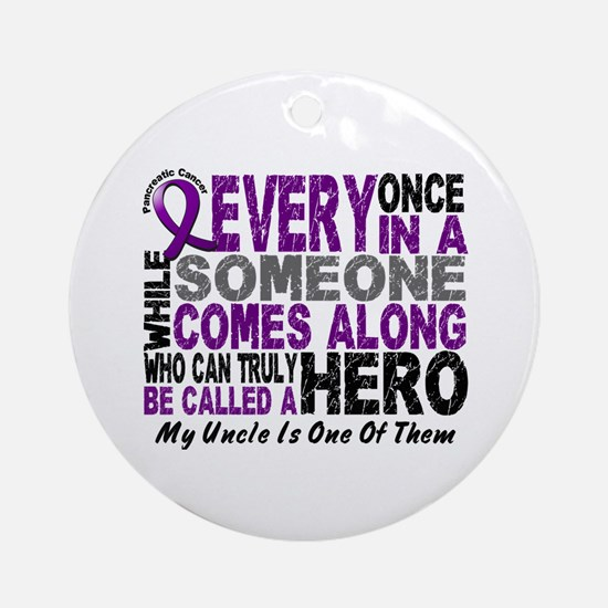 HERO Comes Along 1 Uncle PC Ornament (Round)