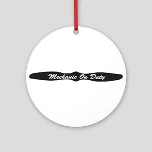 Mechanic On Duty Ornament (Round)