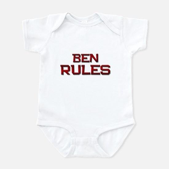 ben rules Infant Bodysuit