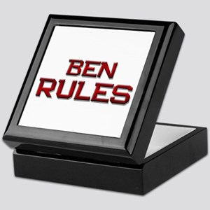 ben rules Keepsake Box