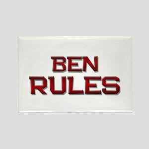 ben rules Rectangle Magnet