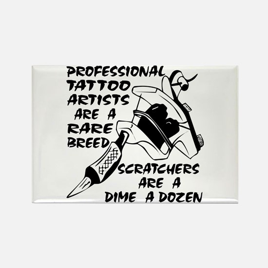 Professional Tattoo Artists Rectangle Magnet