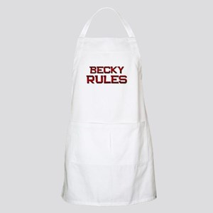 becky rules BBQ Apron