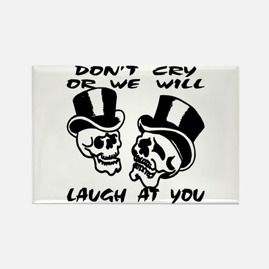 Theater Masks Don't Cry Rectangle Magnet