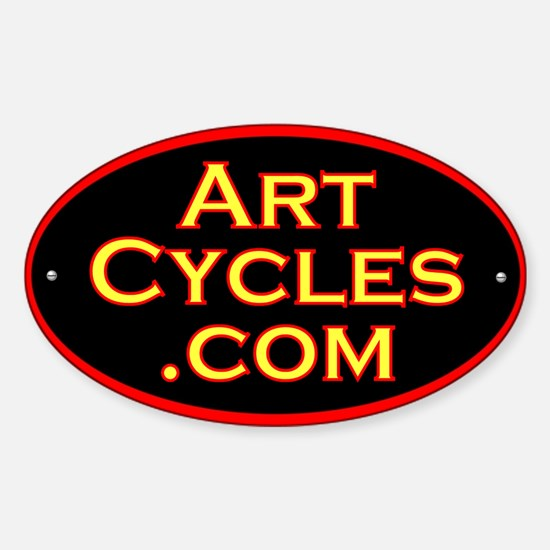 Single speed cycles Oval Decal