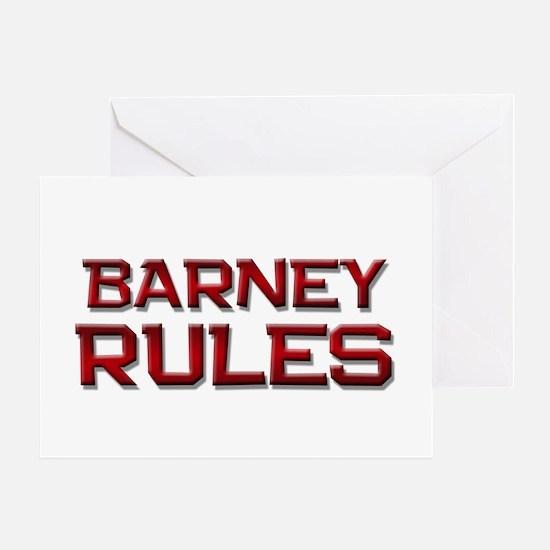 barney rules Greeting Card