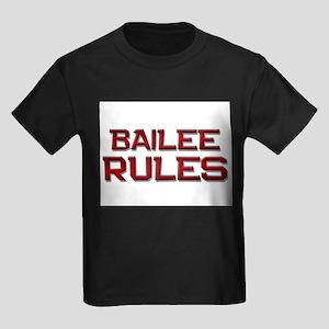 bailee rules Kids Dark T-Shirt