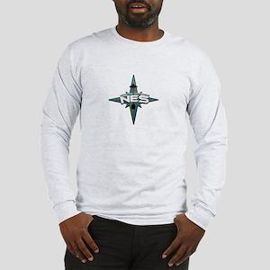 NES Logo Front / NES Text Back Long Sleeve T-shirt