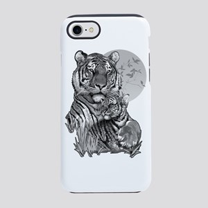 Tiger and Cub (B/W) iPhone 7 Tough Case