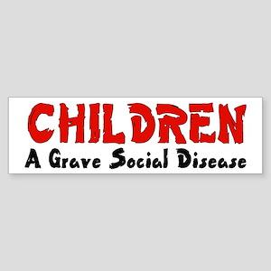 Children Social Disease Bumper Sticker