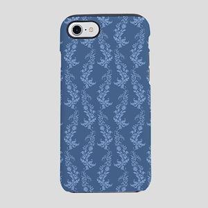 Blue Damask Pattern iPhone 7 Tough Case