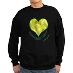 Daffodils in Heart, Mother's Day Sweatshirt (dark)