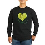 Daffodils in Heart, Mother's Day Long Sleeve Dark