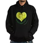 Daffodils in Heart, Mother's Day Hoodie (dark)