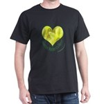 Daffodils in Heart, Mother's Day Dark T-Shirt