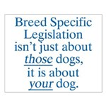 Your Dog BSL Small Poster