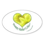 Daffodils in Heart, Mother's Day Sticker (Oval 50