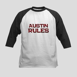austin rules Kids Baseball Jersey