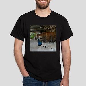 "Dark T-Shirt ""Last Call"" Peacock in a Ba"