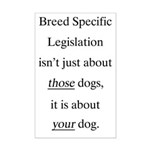 Your Dog BSL Mini Poster Print
