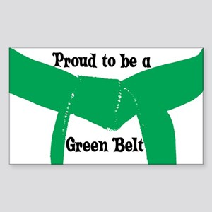 Proud to be a Green Belt Rectangle Sticker