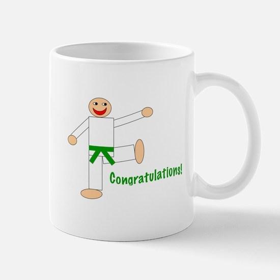Green Belt Congratulations Mug