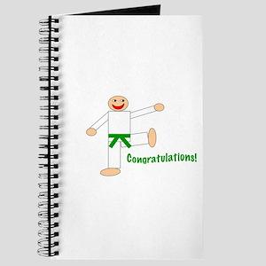 Green Belt Congratulations Journal