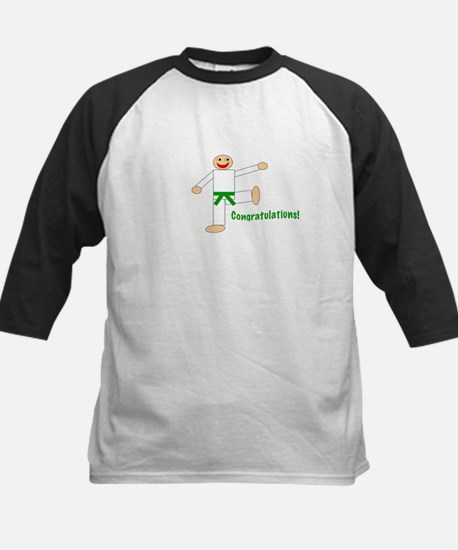 Green Belt Congratulations Kids Baseball Jersey