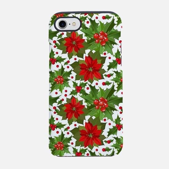 Poinsettia Pattern iPhone 7 Tough Case