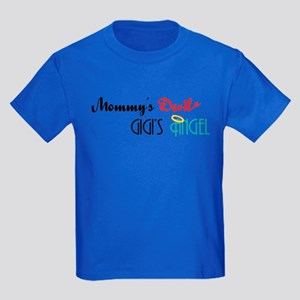 Mommy's Devil, GiGi's Angel Kids Dark T-Shirt