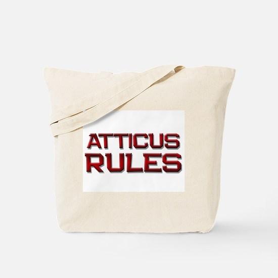 atticus rules Tote Bag