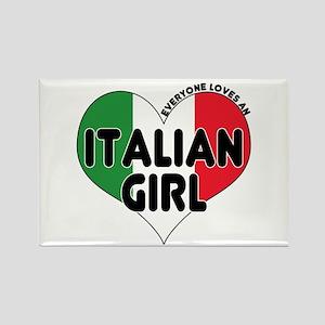 Everyone Loves an Italian Gir Rectangle Magnet