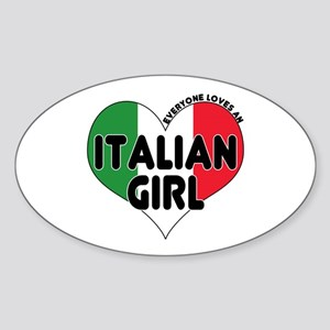 Everyone Loves an Italian Gir Oval Sticker