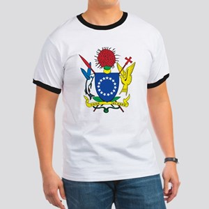 Cook Islands Coat Of Arms Ringer T