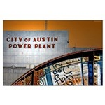 City of Austin Power Plant Poster
