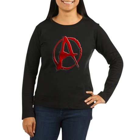 Anarchy Now Women's Long Sleeve Dark T-Shirt