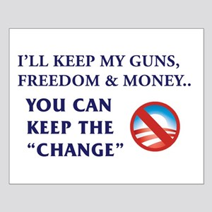 I'll Keep My Guns, Freedom & Money Small Poste