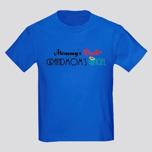 Mommy's Devil, Grandmom's Angel Kids Dark T-Shirt