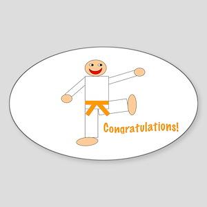 Martial Arts Congratulations Orange Belt Sticker