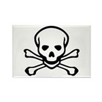 Skull and Crossbones Rectangle Magnet (100 pack)