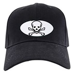 Skull and Crossbones Black Cap