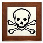Skull and Crossbones Framed Tile