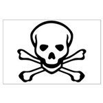 Skull and Crossbones Large Poster
