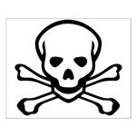 Skull and Crossbones Small Poster