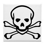 Skull and Crossbones Tile Coaster