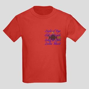 Light of Eye & Soft of Touch Kids Dark T-Shirt