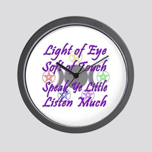 Light of Eye & Soft of Touch Wall Clock