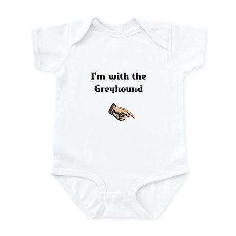I'm with the Greyhound Infant Bodysuit